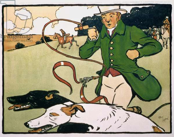 Old English Sports and Pastimes: Coursing (litho)