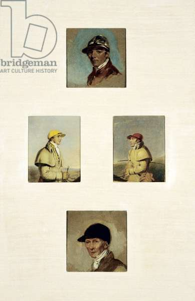 Studies of Jockeys (oil on canvas)