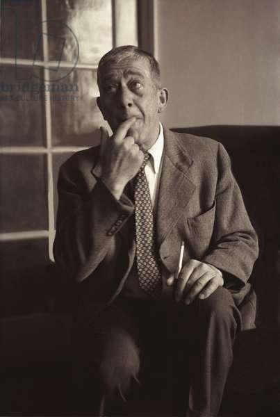 Oskar Kokoschka in London, 26 May 1953 (b/w photo)
