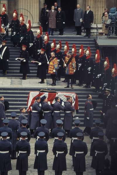 Sir Winston Churchill's funeral, St. Paul's Cathedral, London, 1965 (photo)