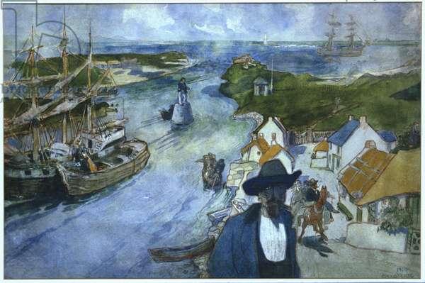 Memory Harbour, Sligo (w/c on paper)