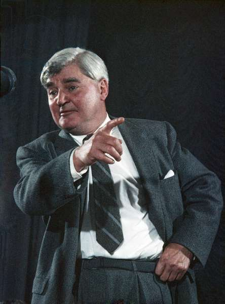 Aneurin Bevan addressing the Labour Party meeting in 1958 (photo)