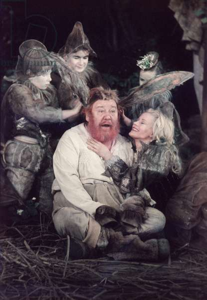 Charles Laughton as Bottom in Shakespeare's A Midsummer Nights Dream, 1958 (photo)