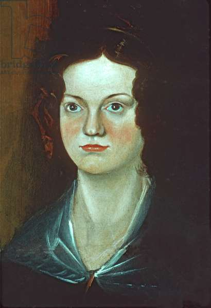 Detail of Charlotte Bronte, from Portrait of the Bronte Sisters, c.1834 (oil on canvas)
