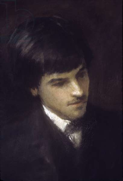 William Butler Yeats as a young man (oil on canvas)