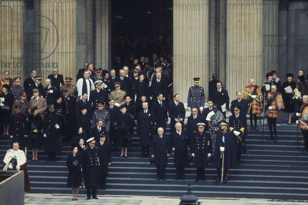 Sir Winston Churchill's funeral, St. Paul's Cathedral, London, Jan 30, 1965 (photo)