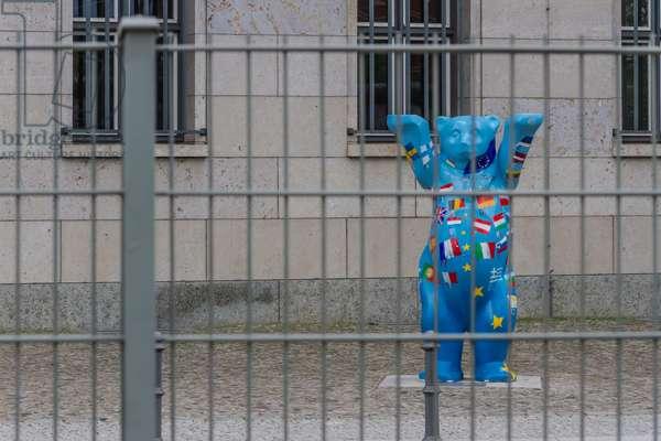 The symbol of the city: the bear, Berlin, Germany (photo)