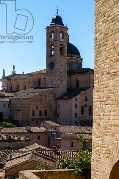 Duomo di Urbino: dome and bell tower, Urbino, Italy (photo)