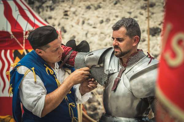 Civil and military customs and customs: Armor dressing., Castel Beseno, Trento, Italy (photo)