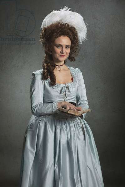 Living History Portraits: Portrait of French Noblewoman of 1770, with book (photo)