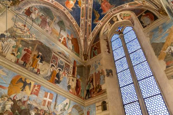 Church of San Francesco, Bacci Chapel, frescoes Piero della Francesca, Arezzo, Tuscany, Italy (photo)