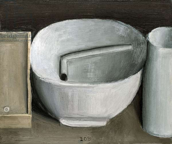 Bowl and Pipe, 2012 (oil on panel)