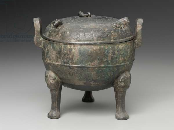 Ritual tripod food vessel (ding), Spring and Autumn period, 6th - 5th century BC (bronze)