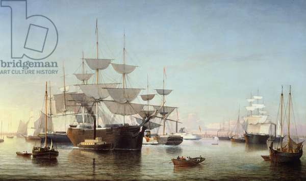 New York Harbour, 1850 (oil on canvas)