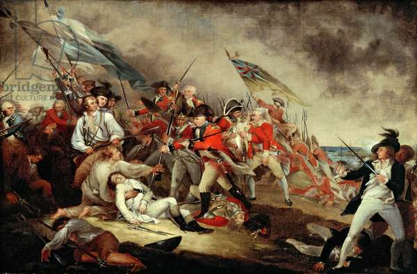 The Death of General Warren at the Battle of Bunker's Hill, 17th June 1775, c.1815-31 (oil on canvas)