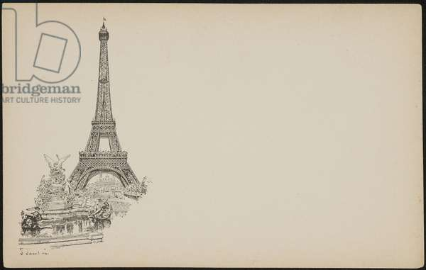 Eiffel Tower, 1889 (litho)