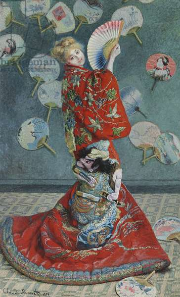 La Japonaise (Camille Monet in Japanese Costume) 1876 (oil on canvas)