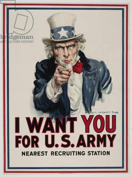 I Want You For U.S. Army, 1917 (colour litho)