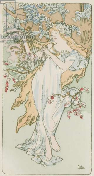 Printemps (colour litho)
