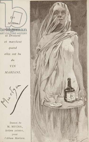 Les Momies elles-mêmes se Dressent et marchent quand elles ont bu du VON MARIANI. (litho)