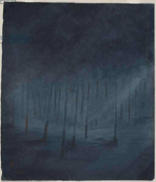 Still in the Forest Night (opaque w/c on paper)