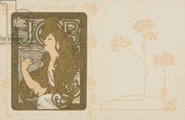 JOB; Calendrier 1897 (colour litho with metallic pigment)