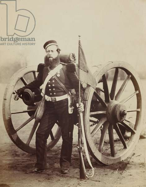 Sergeant William Russell, 5th Battalion, Royal Artillery, 1856 (albumen print)