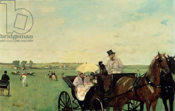 At the Races in the Countryside, 1869 (oil on canvas)