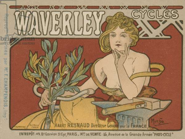 WAVERLY CYCLES (colour litho)