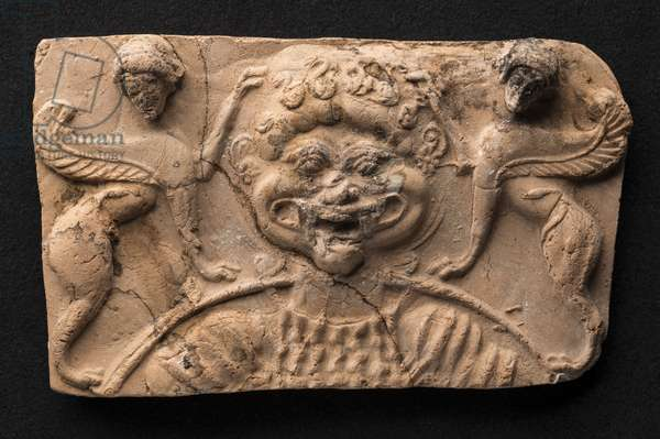 Medusa and sphinxes relief (terracotta)