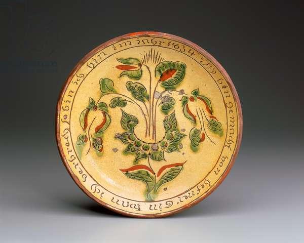 Plate, 1834 (earthenware)