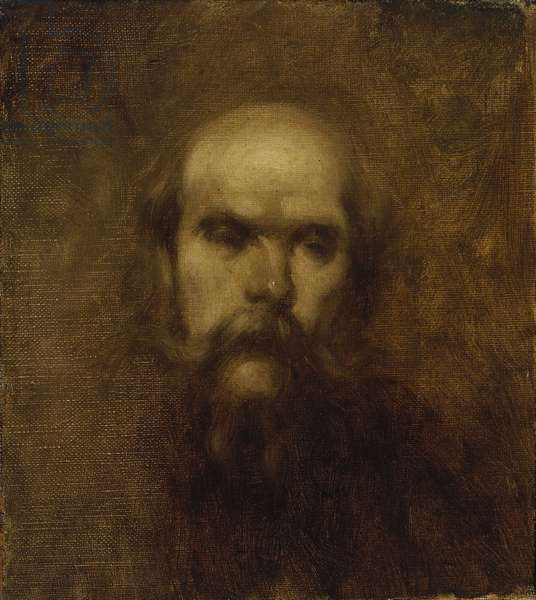 Paul Verlaine, c.1891 (oil on canvas mounted on panel) Verlaine (1844-96) French Symbolist poet;
