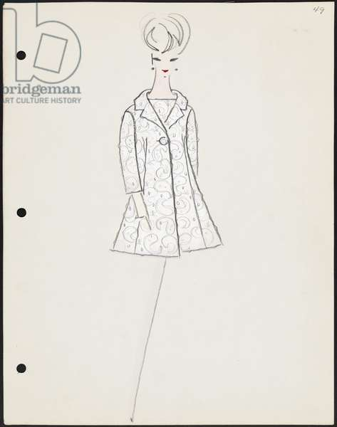 Sketch from sketch book, Resort 1962, 1962 (gouache & pencil on paper)