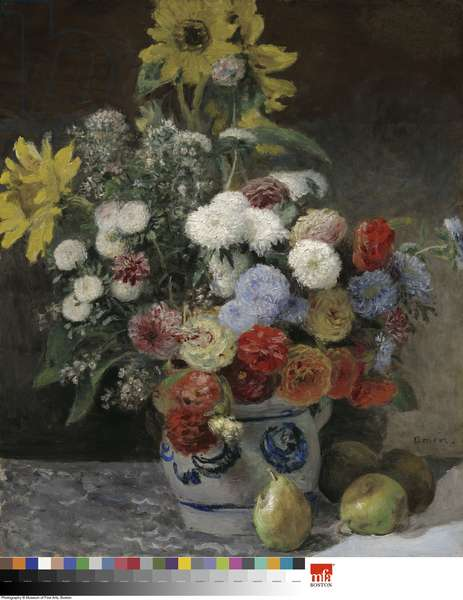 Mixed Flowers in an Earthenware Pot (oil on paperboard mounted on canvas)