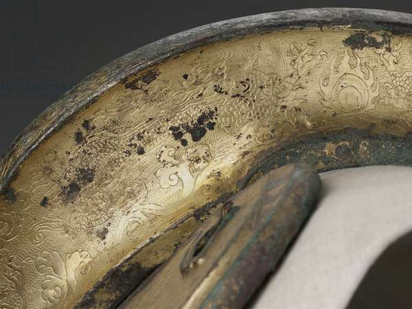 Horse saddle, late 10th-early 11th century (gilt bronze)