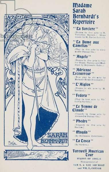 Tragique Histoire d'Hamlet Prince du Danemark, 1905 (litho)