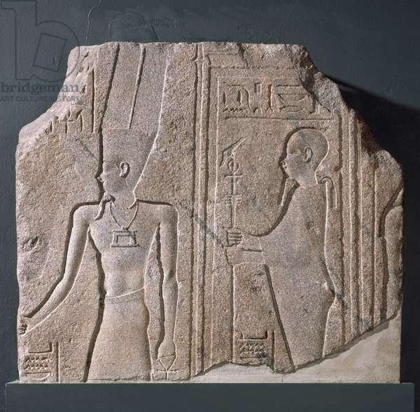 Relief of the gods Amen and Ptah-Sokar-Osiris, Hellenistic Period (Ptolemaic) 285-–246 B.C. (granite)