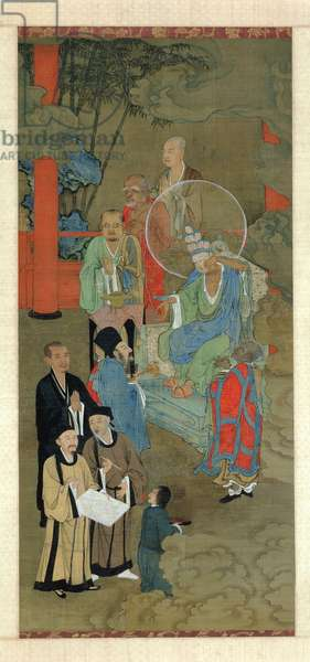 Lohan Manifesting Himself as an Eleven-Headed Guanyin, Chinese, Southern Song Dynasty, c.1178 (ink and colour on silk)