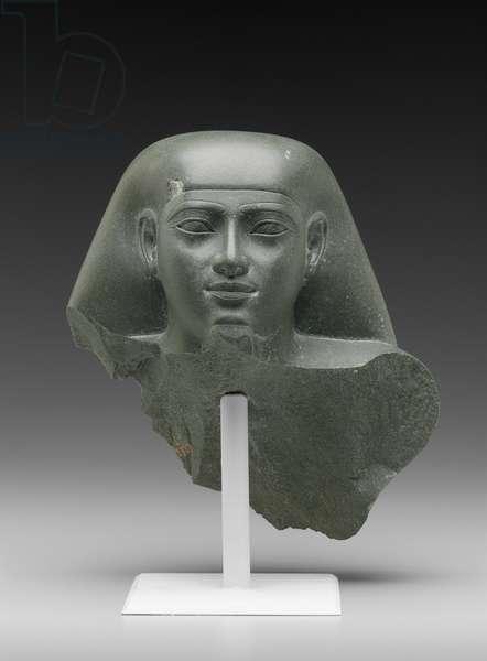 Head of Ankhkhonsu, Late Period, Dynasty 26, 664–-525 B.C. (greywacke)