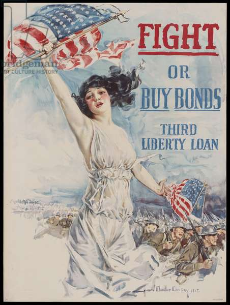 Fight or Buy Bonds - Third Liberty Loan, 1918 (colour litho)
