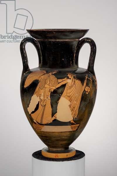 Neck amphora with Eos and Tithonos, 480-470 BC (ceramic)