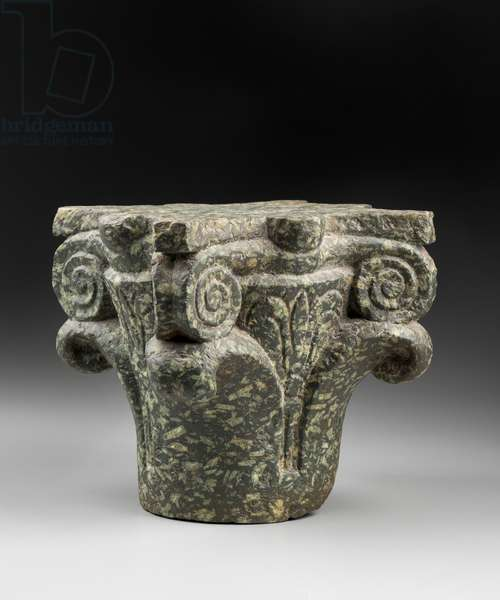 Composite capital with smooth leaves, c.400-440 AD (stone)