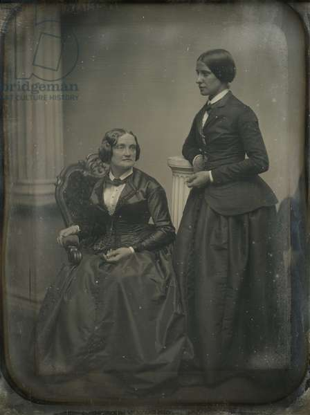 Charlotte Cushman (1816-76) and Matilda Hays, c.1853 (daguerreotype)