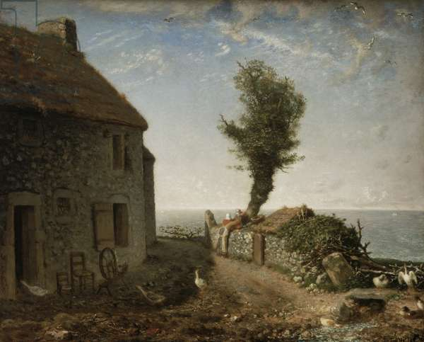 End of the Hamlet of Gruchy, 1866 (oil on canvas)
