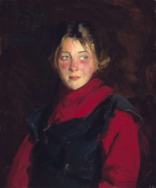 Irish Girl, Mary O'Donnel, 1913 (oil on canvas)