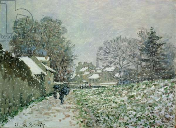 Snow at Argenteuil, c.1874 (oil on canvas) neige;