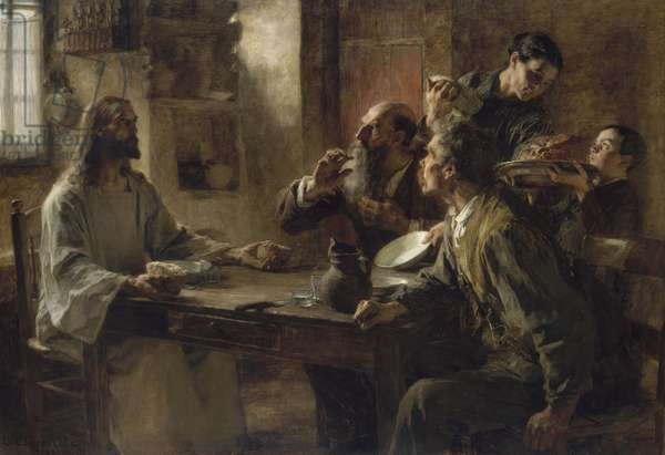 Friend of the Humble, Supper at Emmaus 1892 (oil on canvas)