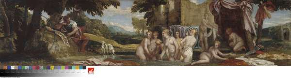 Actaeon Watching Diana and Her Nymphs Bathing, 1560s (oil on canvas)