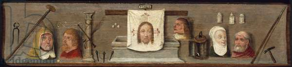 Instruments of the Passion of Christ, Ecce Homo, c.1496 (oil on panel)