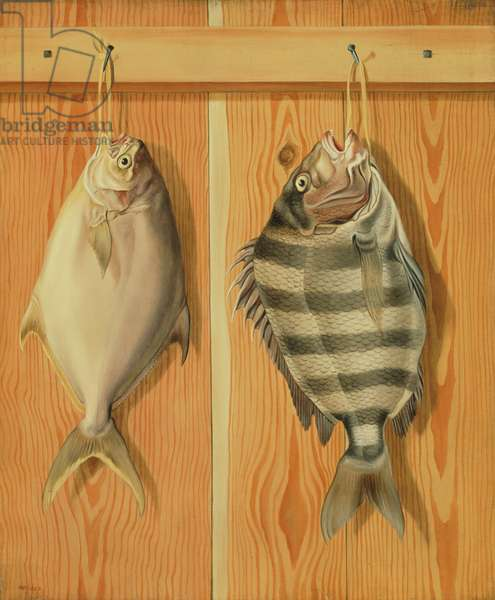 Dollarfish and Sheepshead, 1860 (oil on canvas)